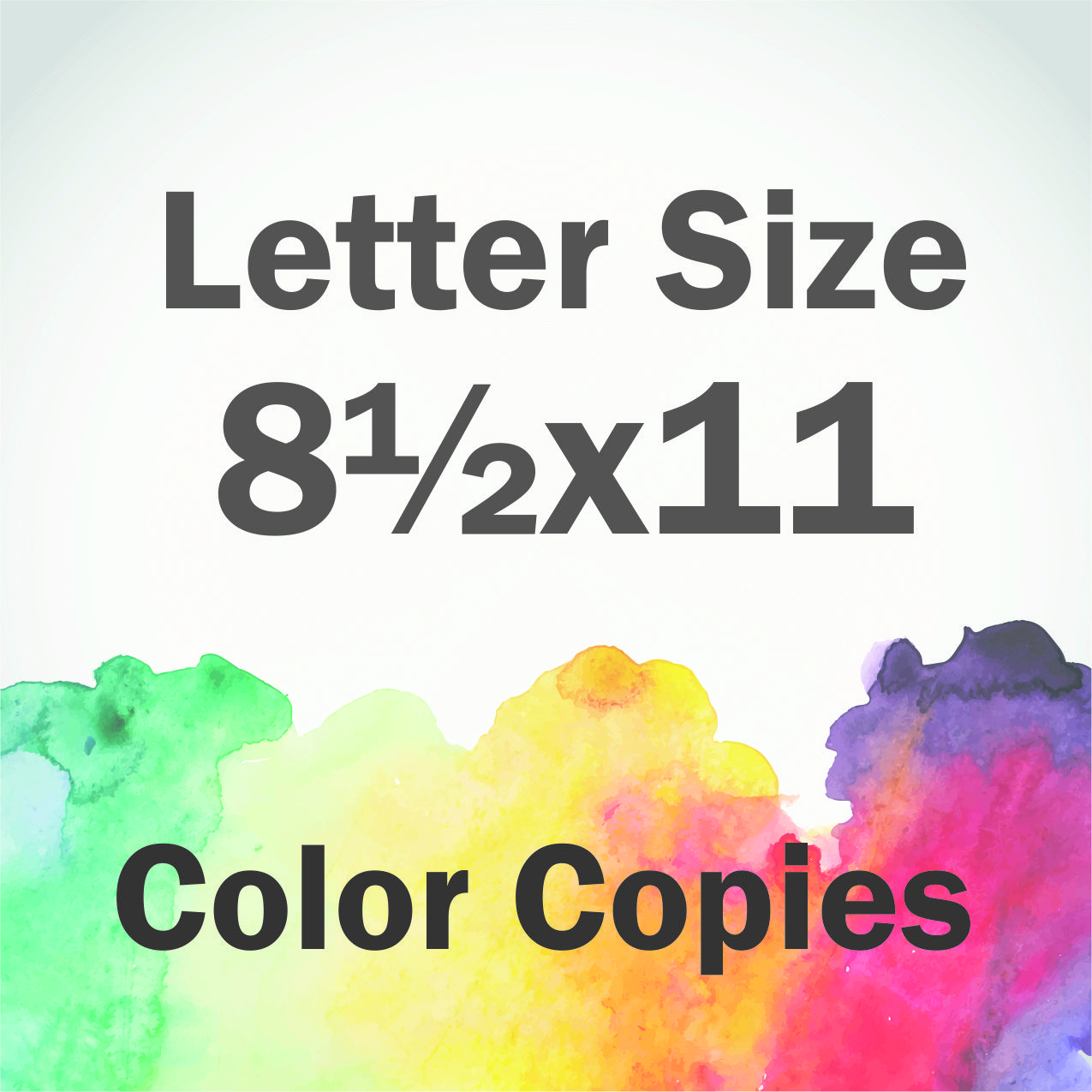 color copies letter size